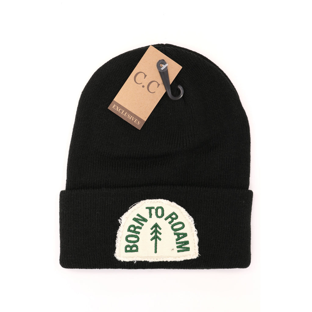 Sewn On Embroidered Patch Solid CC Beanie HAT90