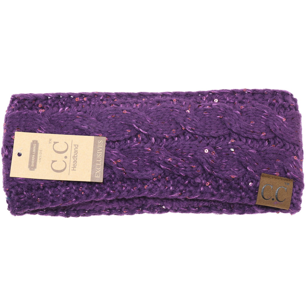 Sequin CC Headwrap HW730