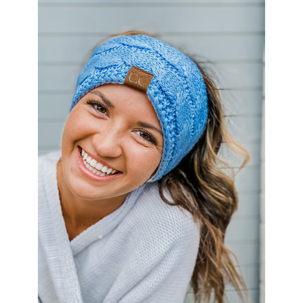 Solid Cable Knit CC Head Wrap HW20