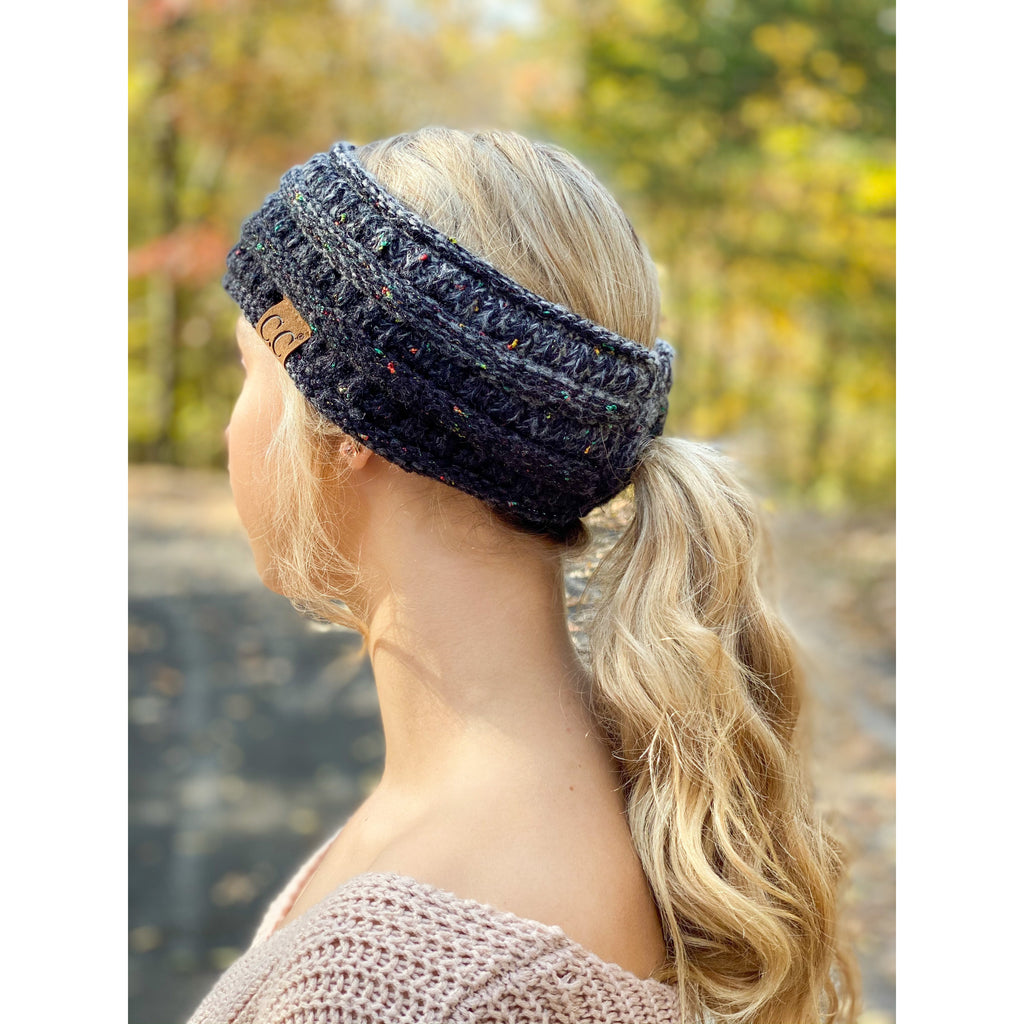 Ombre Ribbed Flecked Headwrap HW817