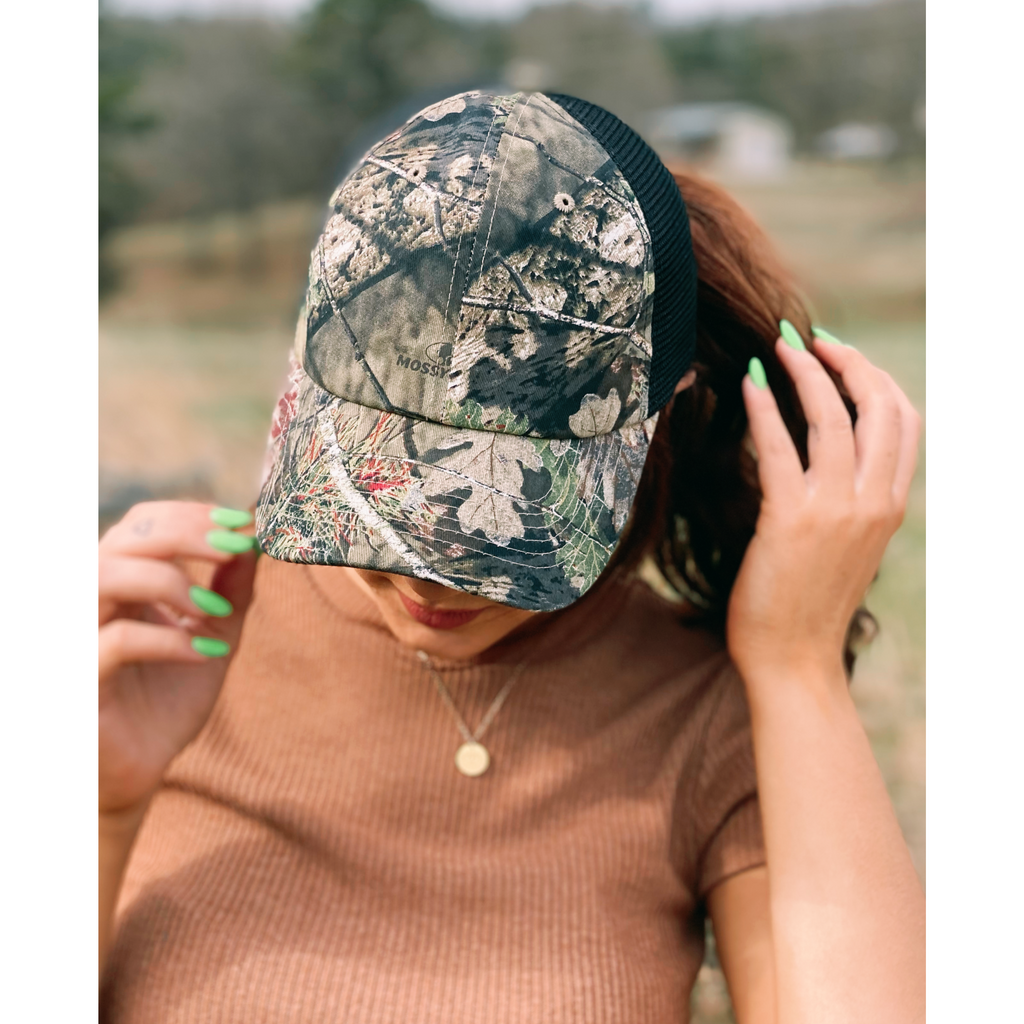 C.C MOSSY OAK Mini Break-Up Camouflage Mesh Back Ball Cap BA936