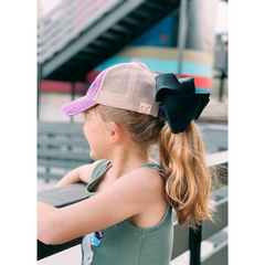KIDS Distressed Criss-Cross High Ponytail CC Ball Cap KIDSBT780