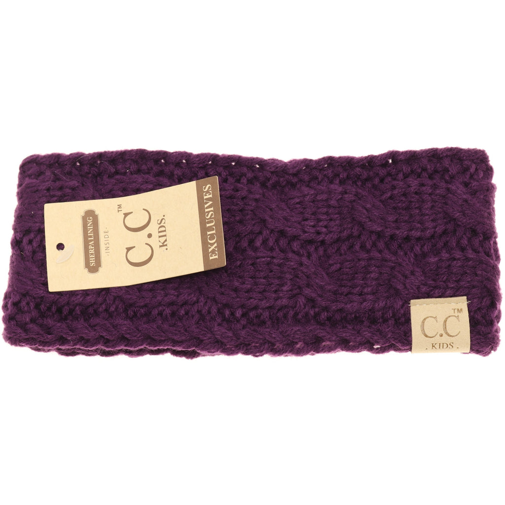 KIDS Solid Cable Knit CC Head Wrap HW20KIDS