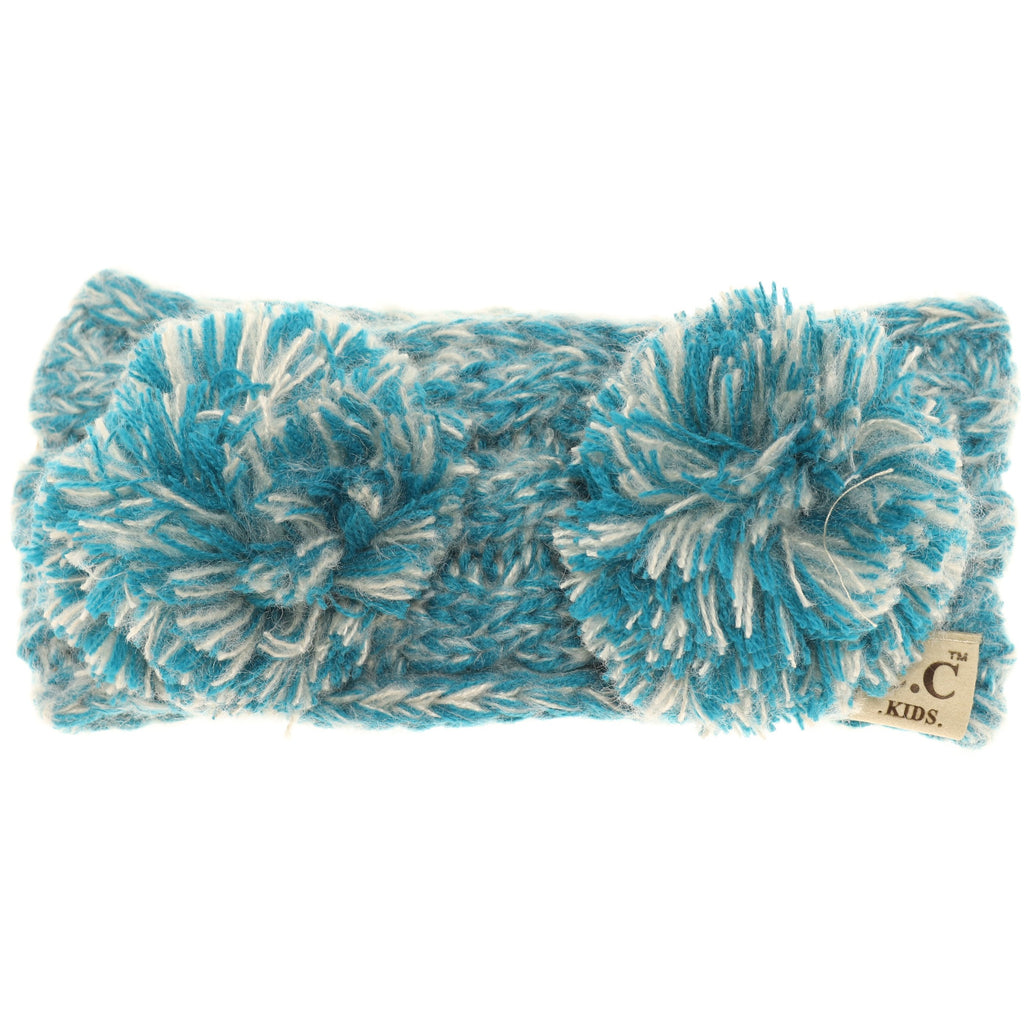 KIDS Multi-tone Double Pom Head Wrap HW23KIDS