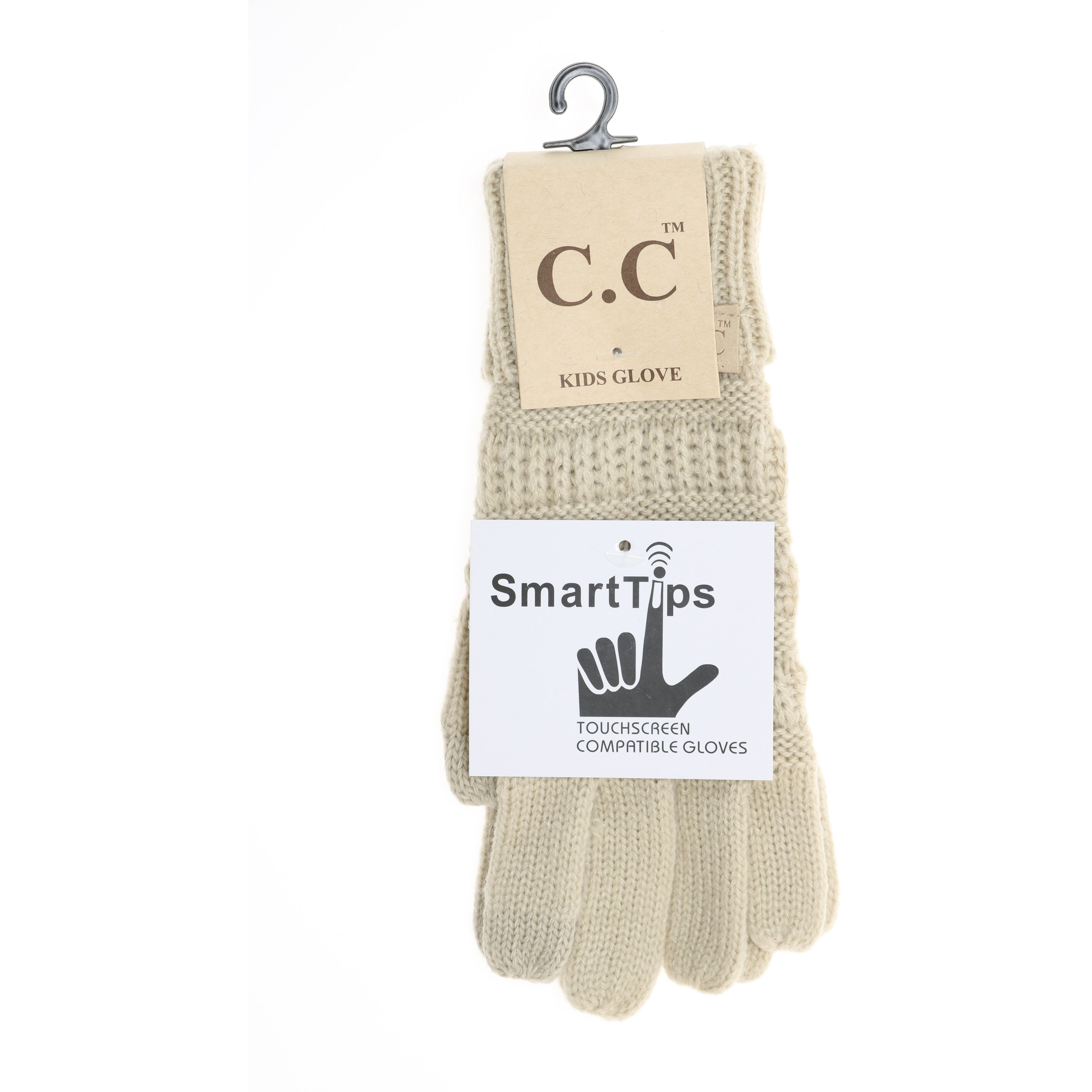 dcd572fae7037 KIDS Solid Cable Knit CC Gloves G20KIDS - ccbeanie.com