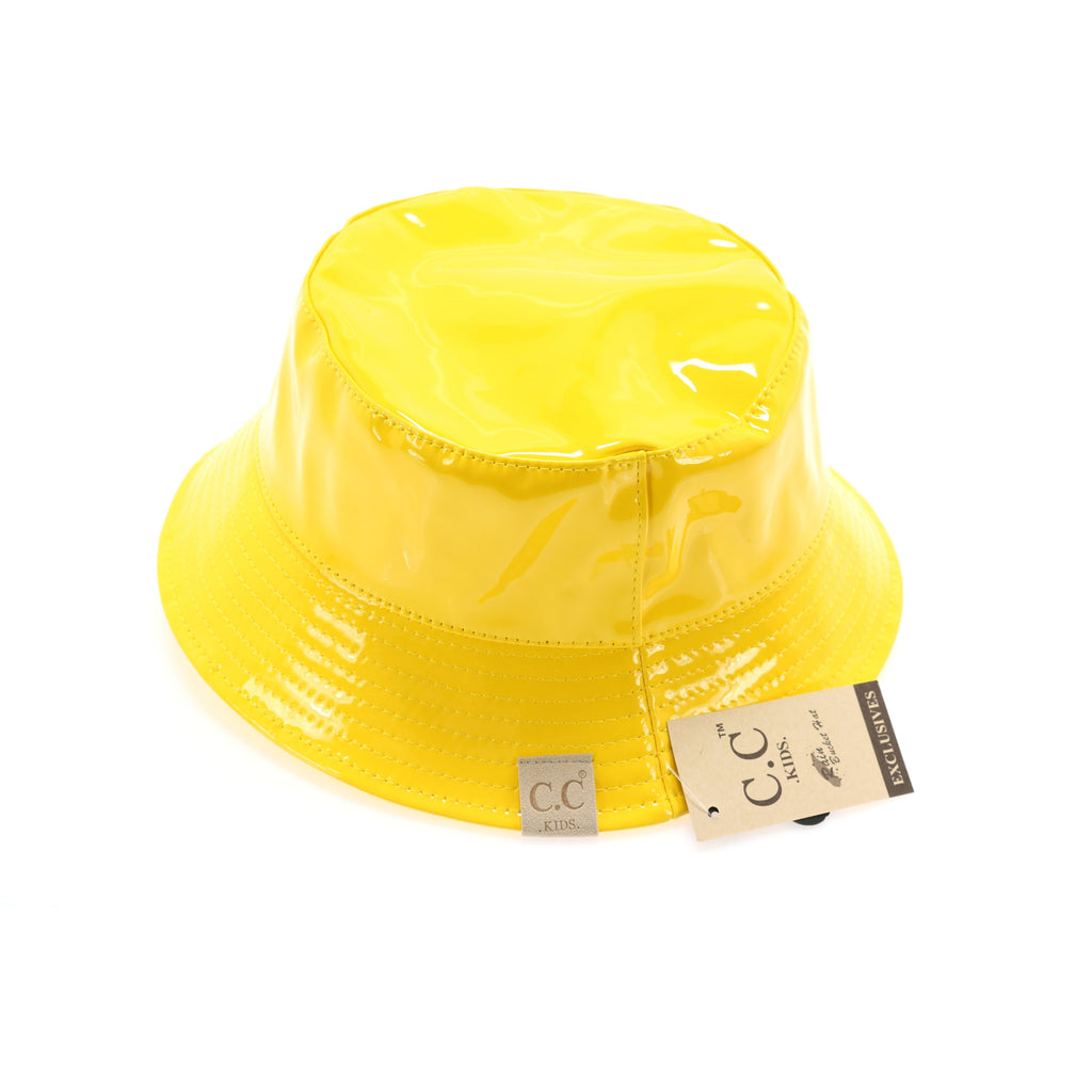 Kids Shiny Rain Bucket CC Hat KIDS2182