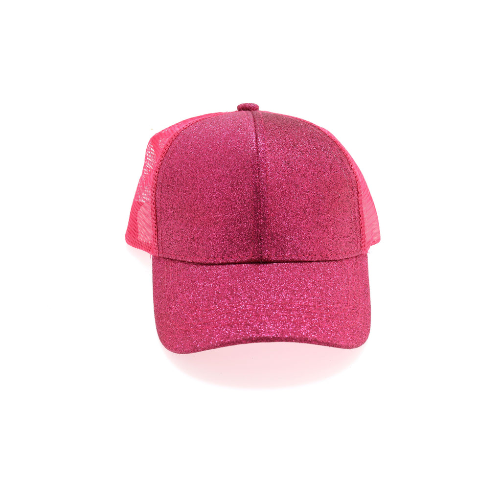 Kids Glitter High Ponytail CC Ball Cap KIDSBT6