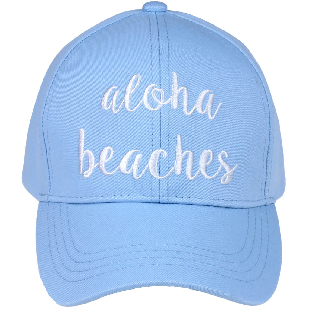 Aloha Beaches Embroidered CC Ball Cap BA2017AB