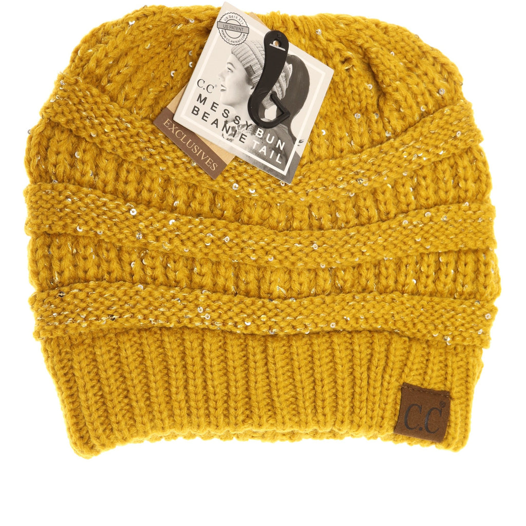 Sequin CC Beanie Tail Beanie MB730