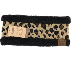 Lined Leopard Print CC Head Wrap HW45