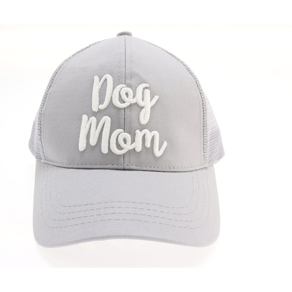 e97b6891052e8 ... Dog Mom Embroidered Mesh Back High Ponytail CC Ball Cap BT10-DM ...