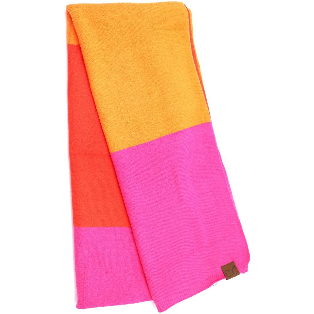 Colorblock CC Knit Scarf SF7005