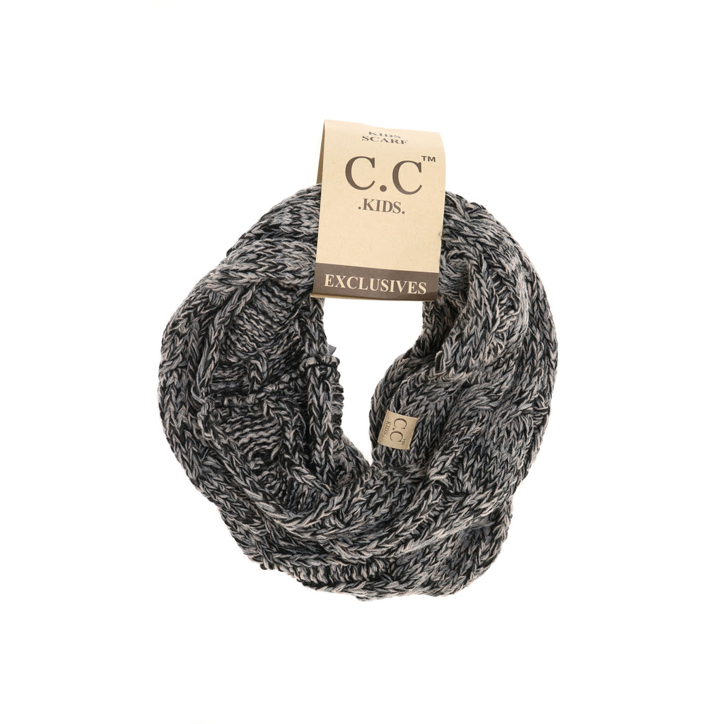 KIDS Multi Tone Cable Knit CC Infinity Scarf SF816KIDS