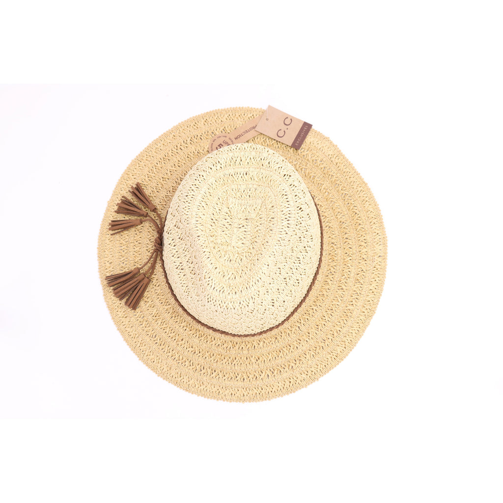 Two-Tone Panama Hat ST802