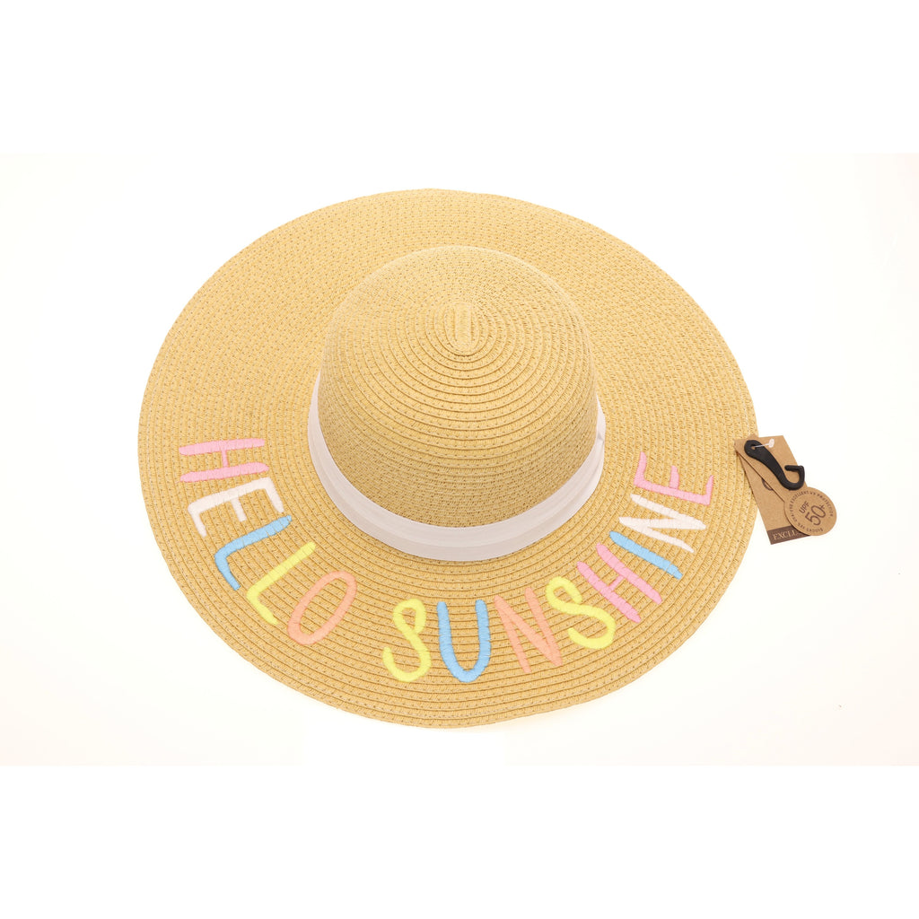 Multi Lettering Embroidered Sun Hat ST2000