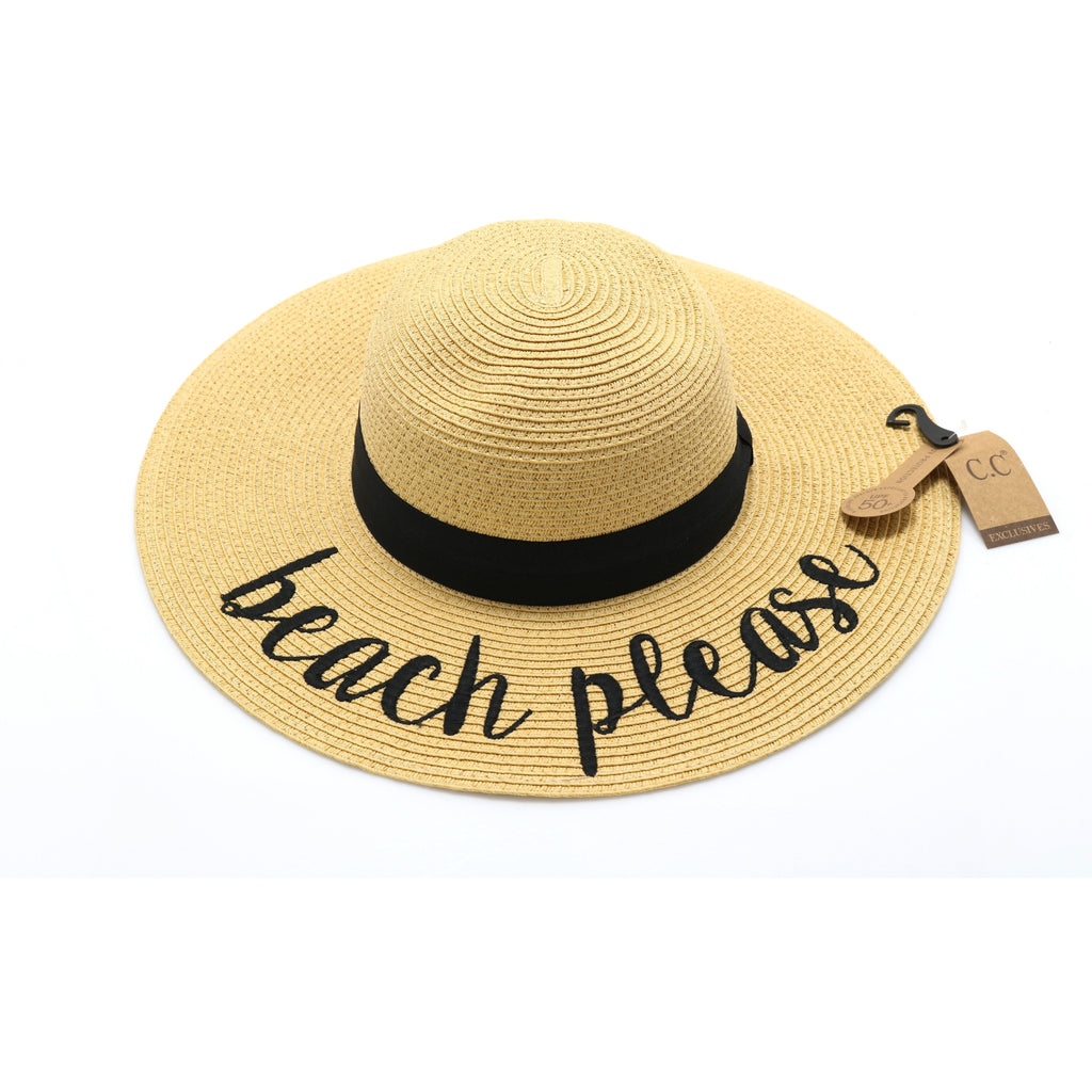 Beach Please Sun Hat ST2017