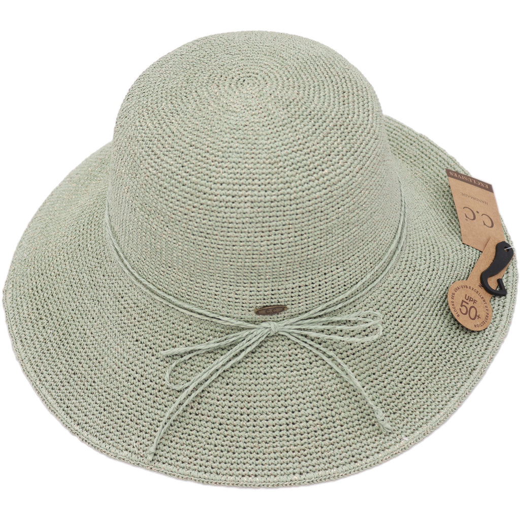 Lurex Cloche Sun Hat ST3013