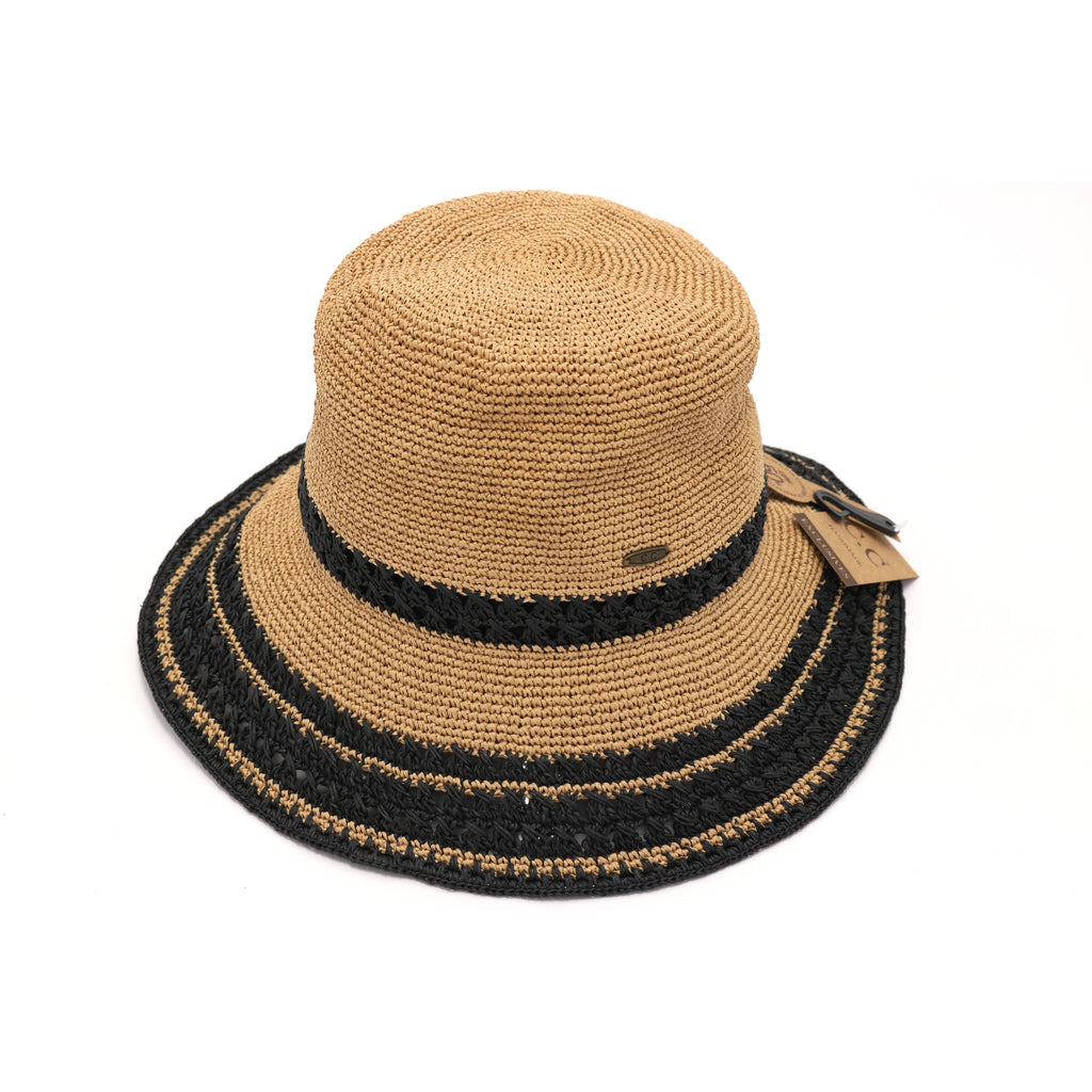 Multi-Stripe Cloche Hat ST3022