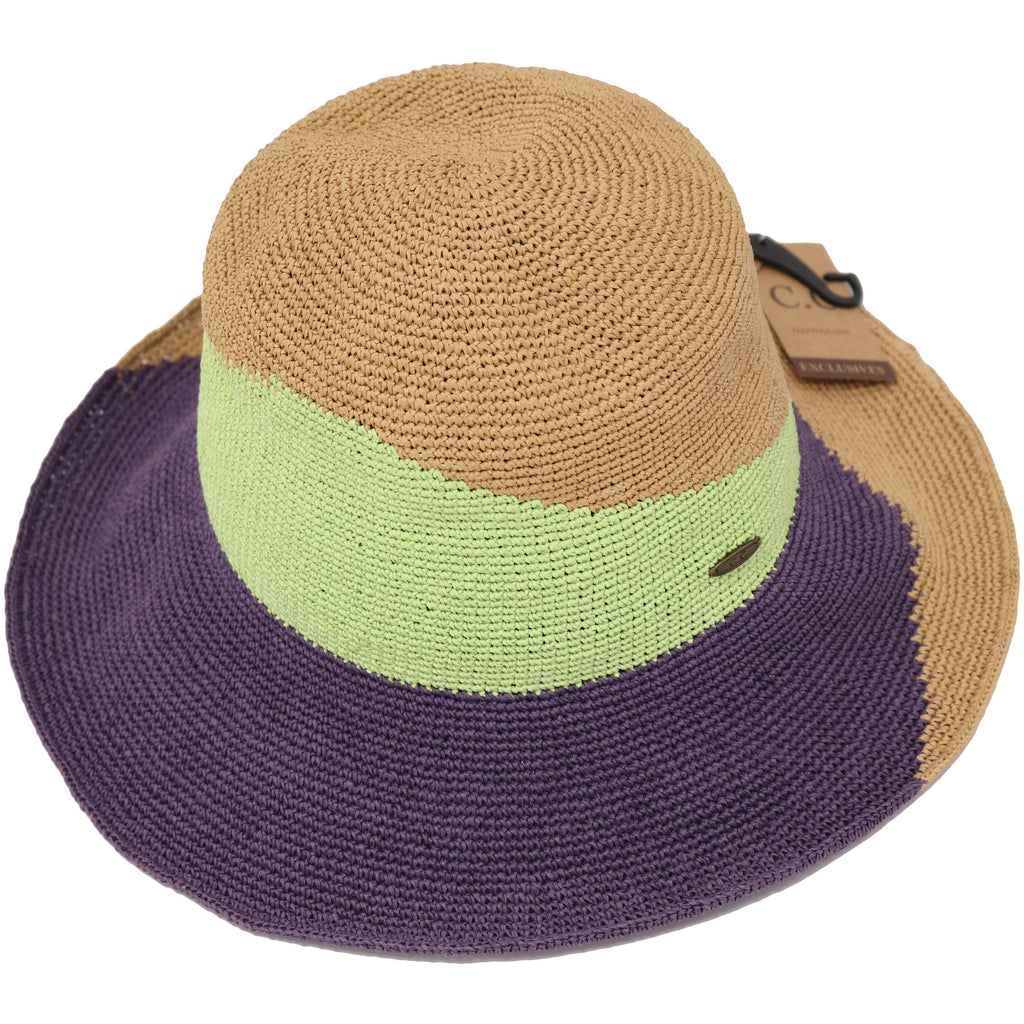 Two-Tone Color Block Cloche Hat ST3023