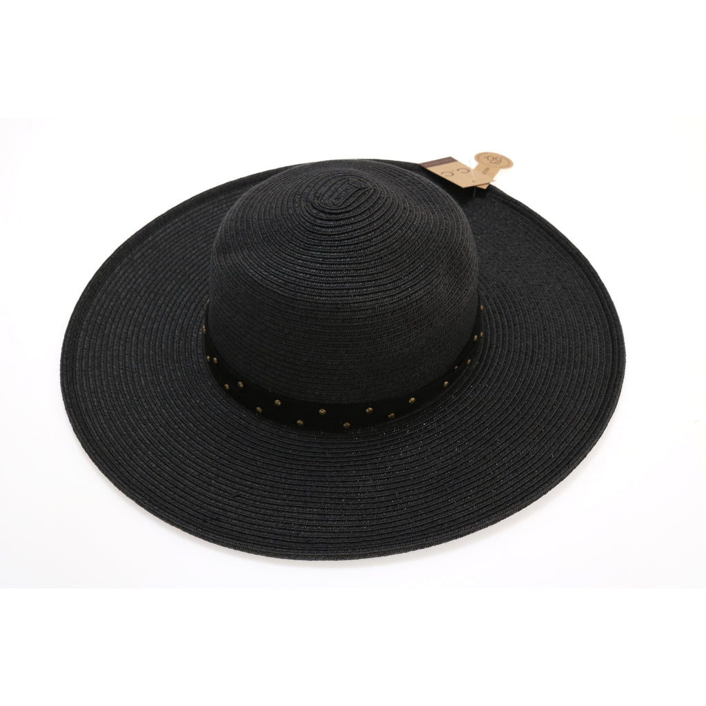 Braided Hat with Grommet Detail ST703