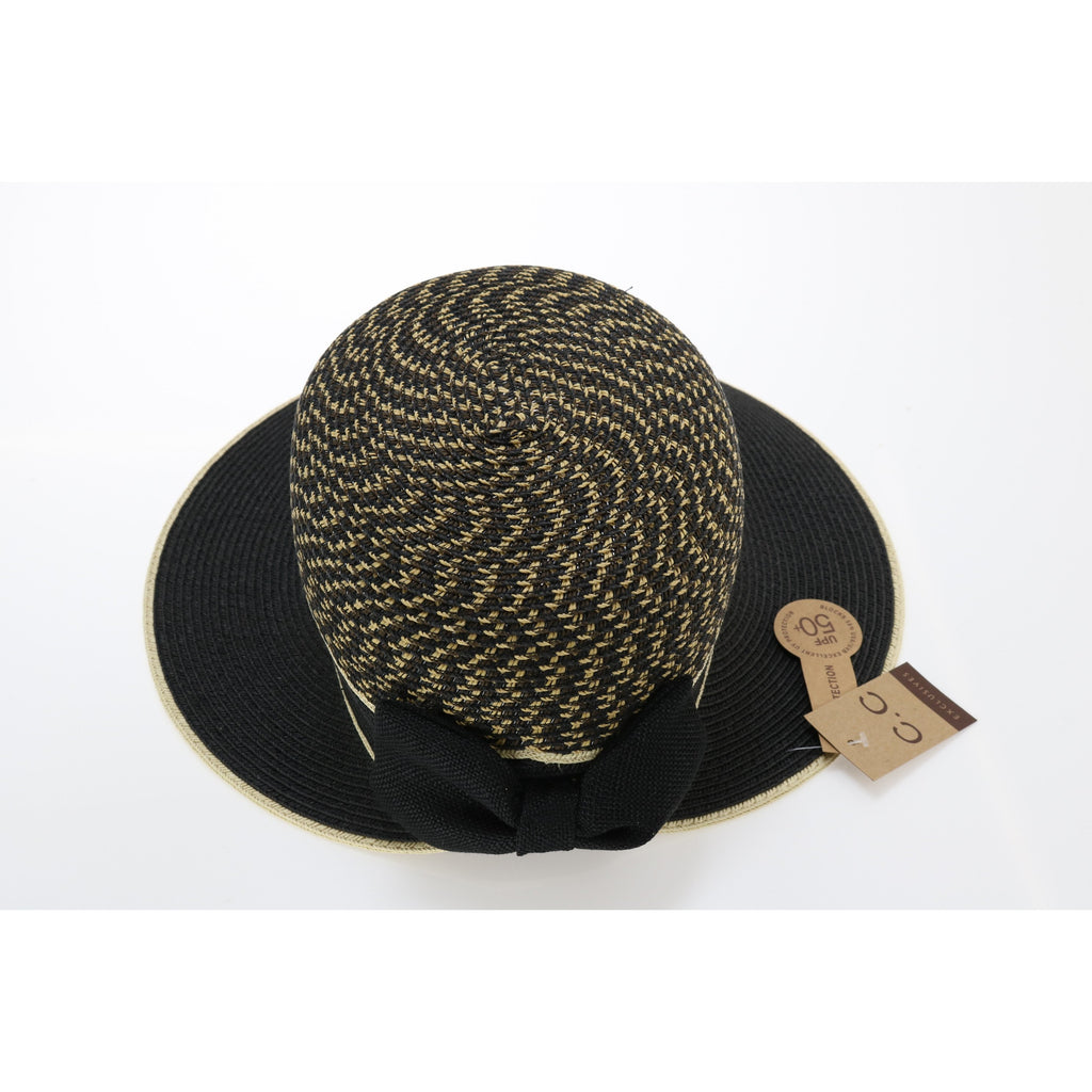 Braided Bonnet Hat with Bow ST710