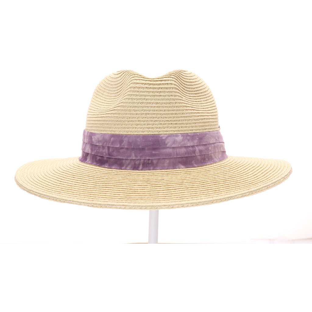 Tie Dye Band Straw Panama Hat ST850