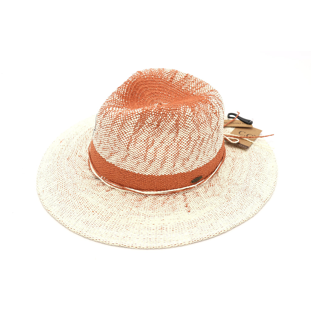 Two-Tone Gradient Panama Hat ST903