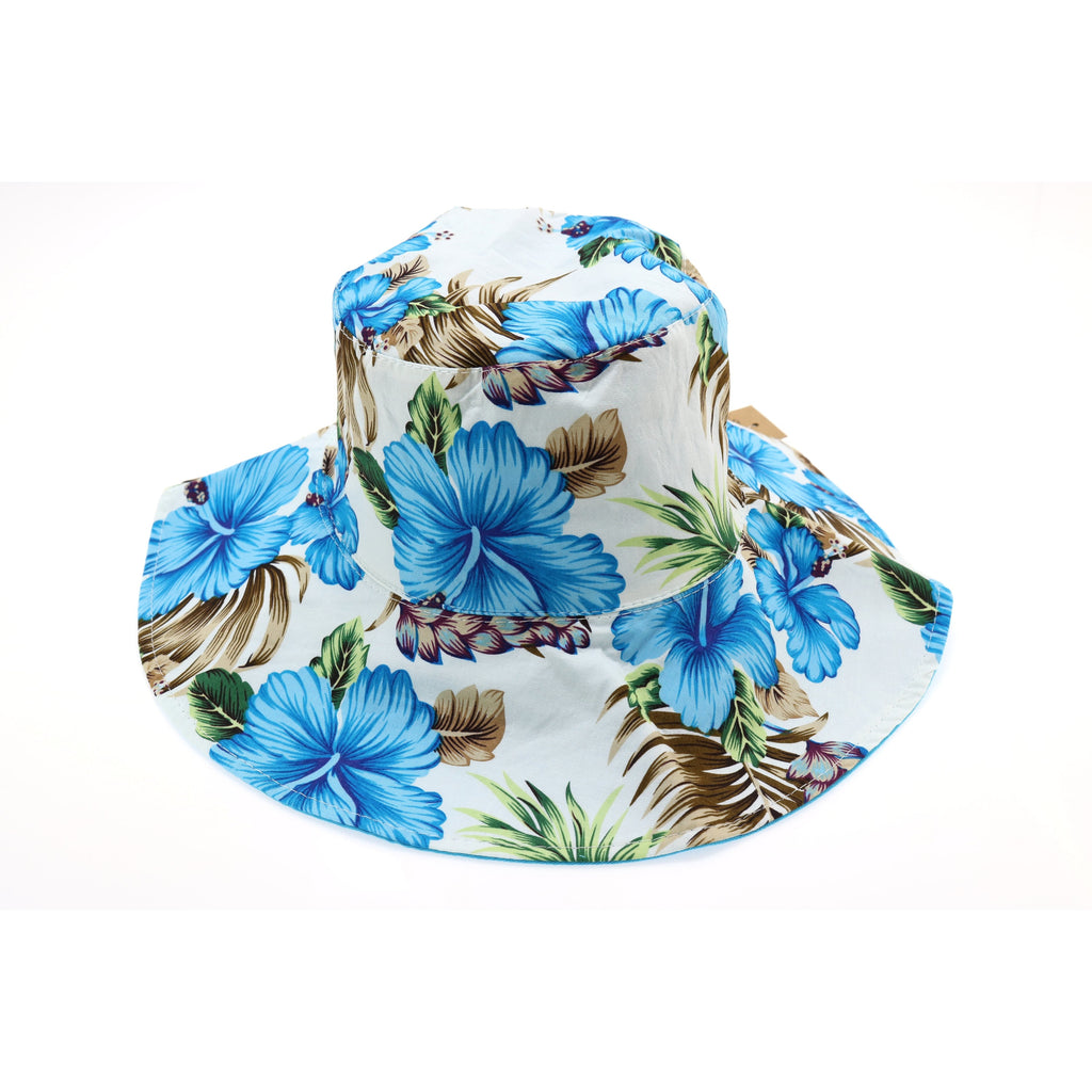 Floral Reversible Ponytail Bucket Hat ST2245