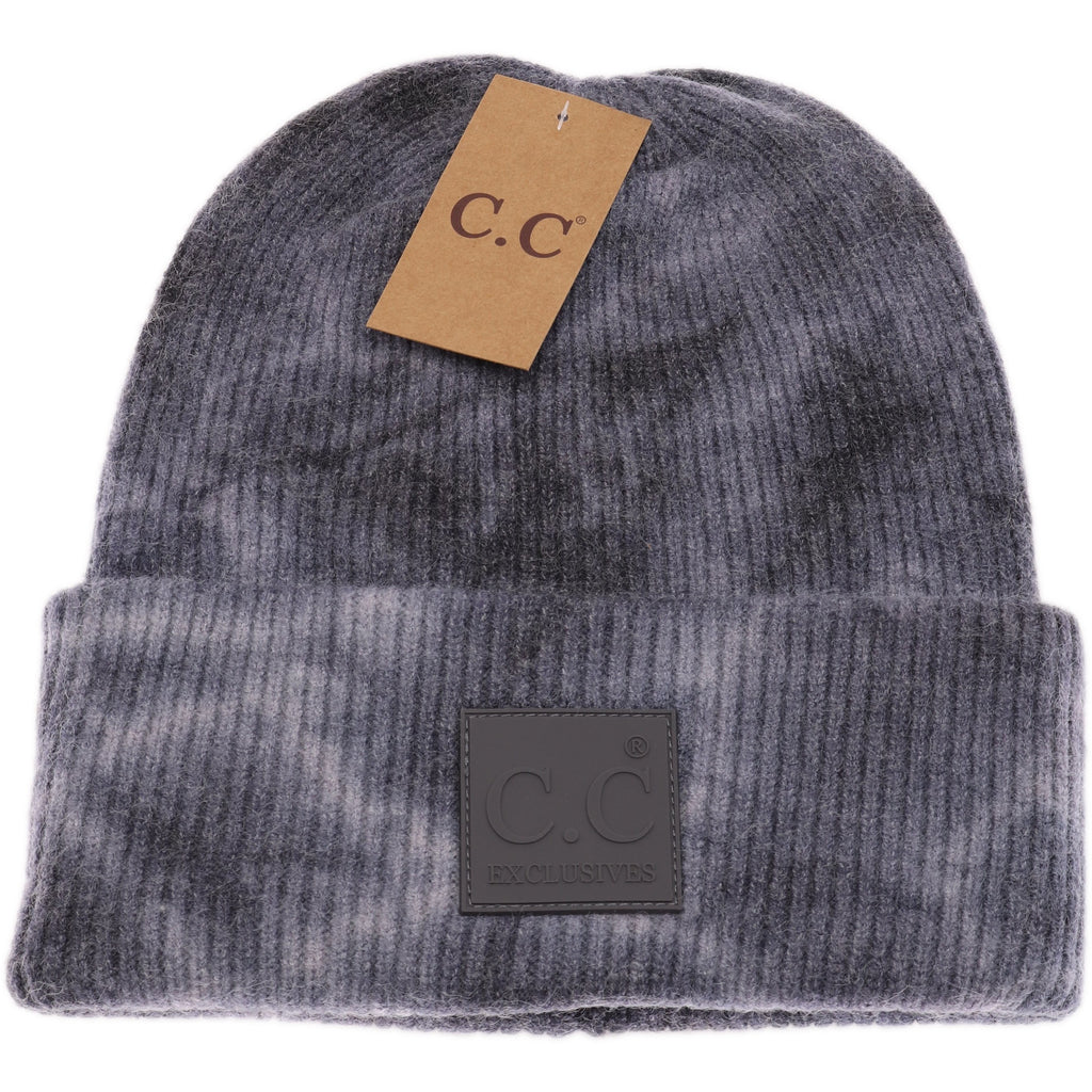 Tie Dye Beanie with Rubber Patch HAT7380