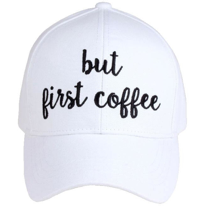 But First Coffee Embroidered CC Ball Cap BA2017BFC