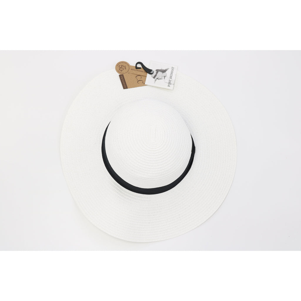 Floppy Wide Brim Hat with Ponytail Opening ST2027