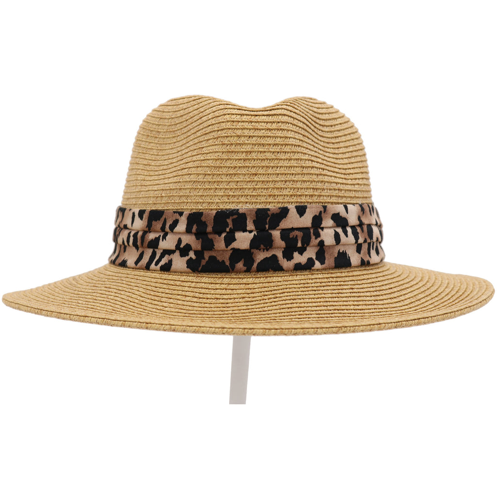 Fedora with Leopard Printed Band ST821