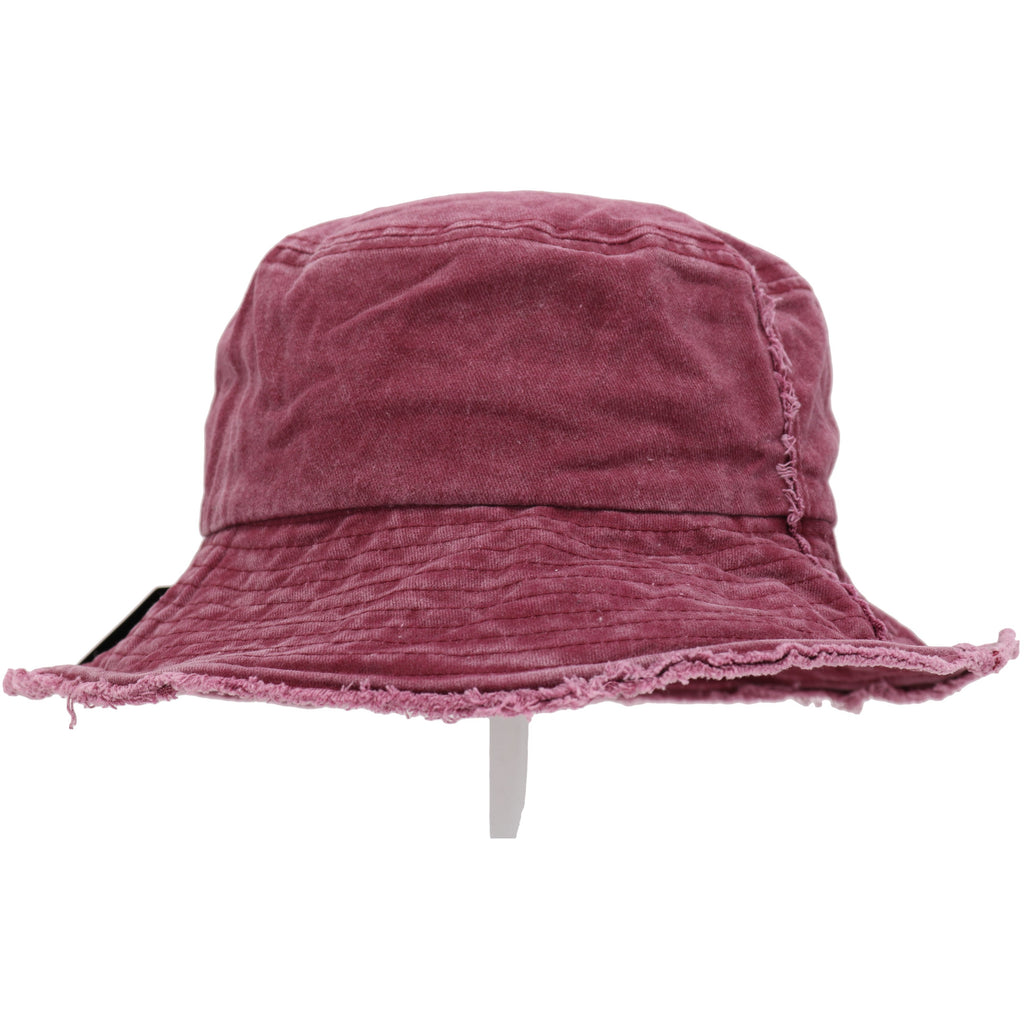 Washed Denim Distressed Bucket Hat BK776