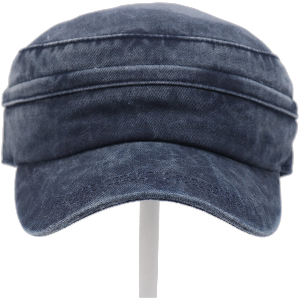 2 IN 1 Washed Denim Army Zipper Cap BZ771