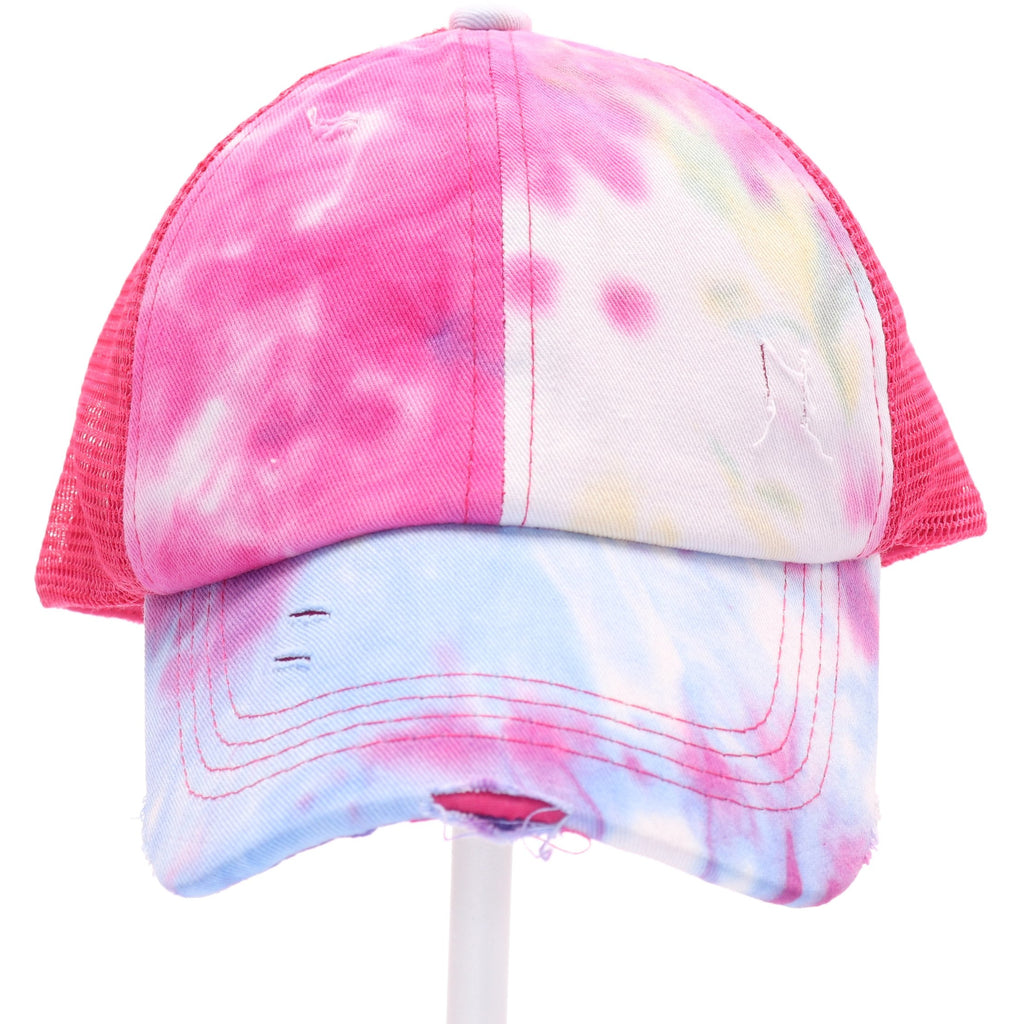 Kids Tie Dye Criss-Cross High Ponytail CC Ball Cap KIDSBT791