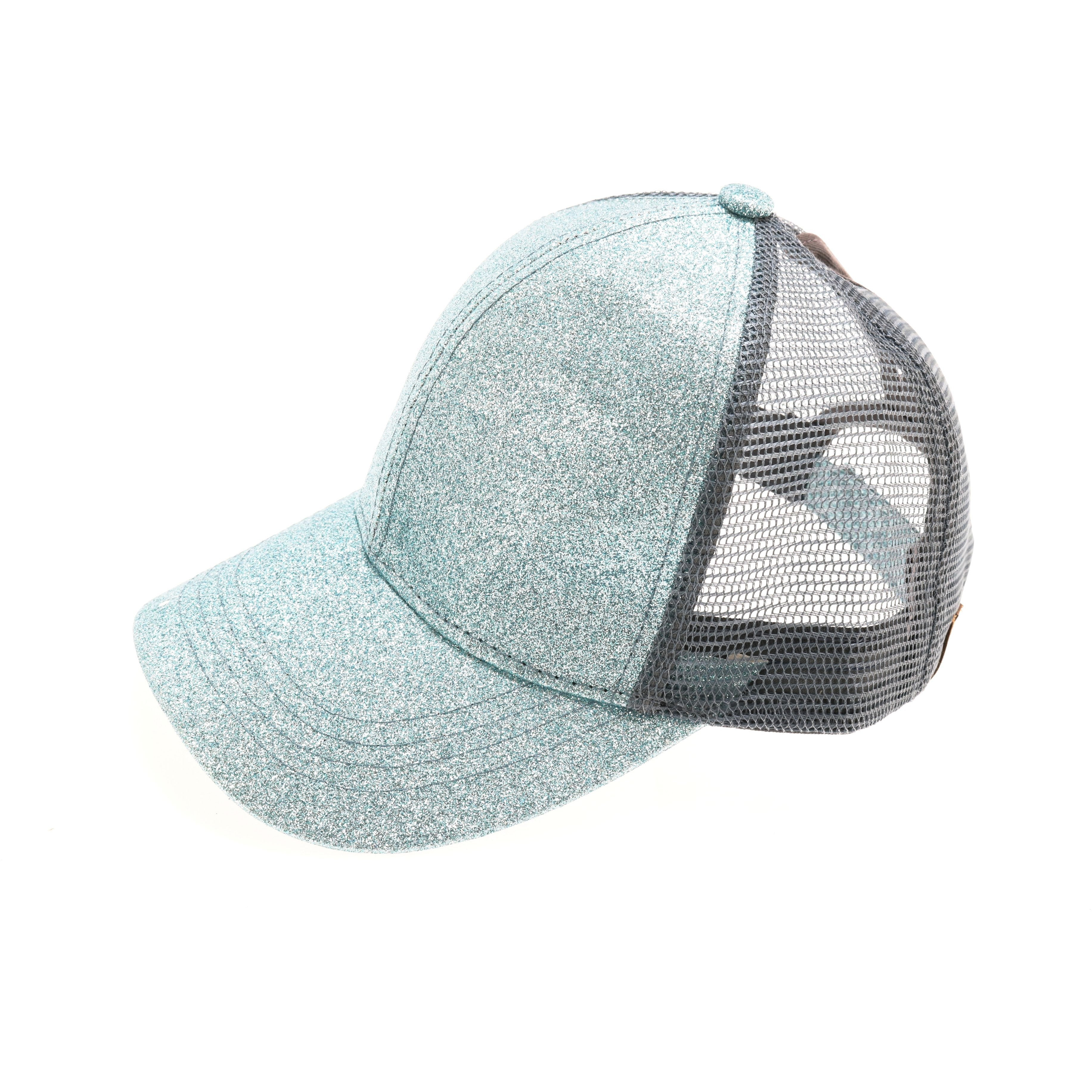 e66ea69b4 Glitter High Ponytail CC Ball Cap BT6