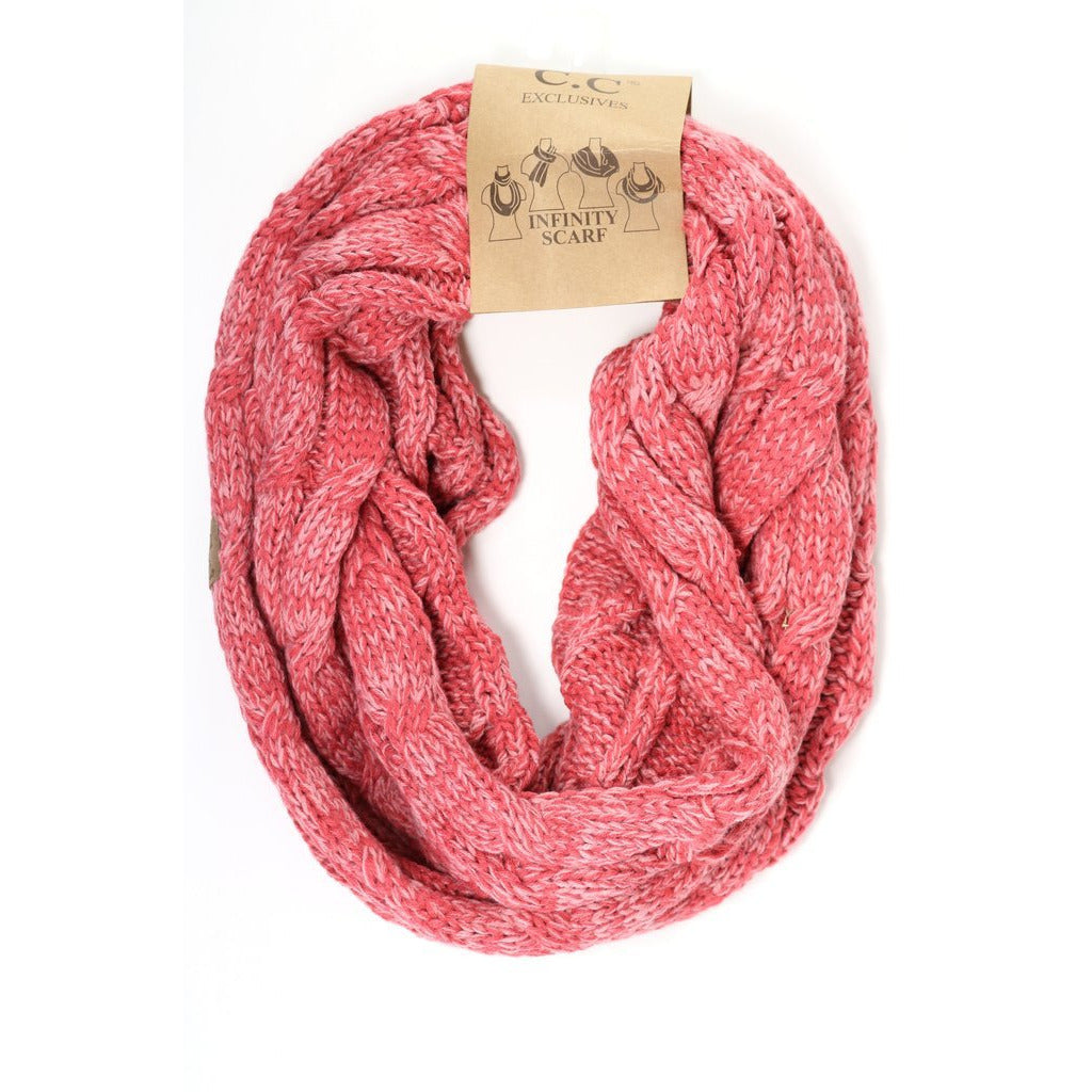 Tri-Color CC Infinity Scarf SF6242