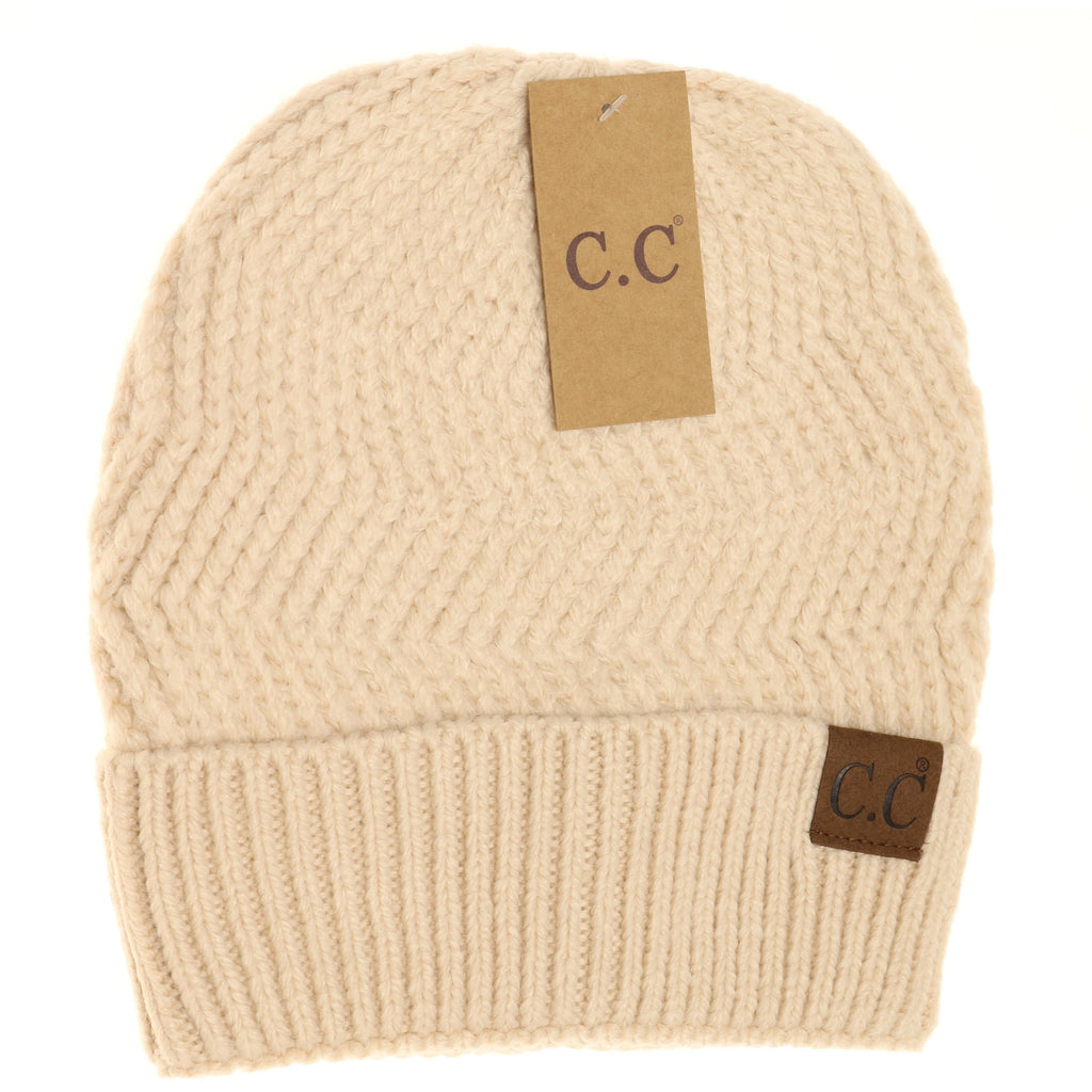 Chevron Knit Cuff Beanie HAT9000