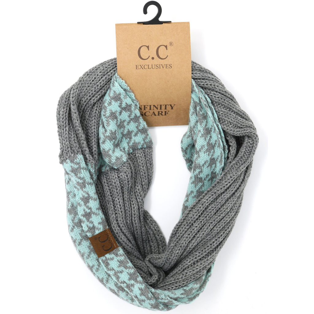 Houndstooth CC Infinity Scarf