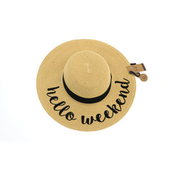 Hello Weekend Sun Hat ST2017