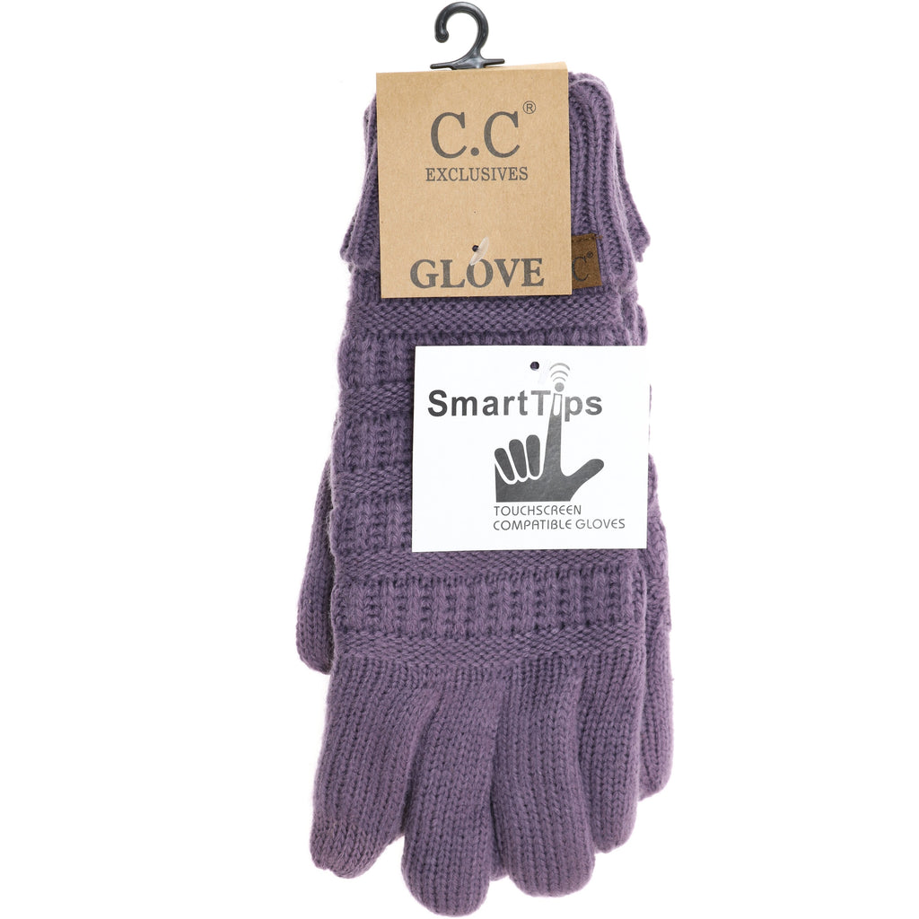 Knit CC Gloves with Lining G25