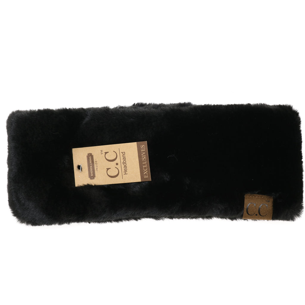Fuzzy Lined Faux Fur CC Headwrap HW715