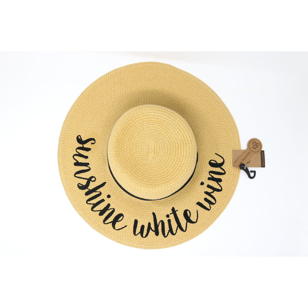Sunshine White Wine Sun Hat ST2017