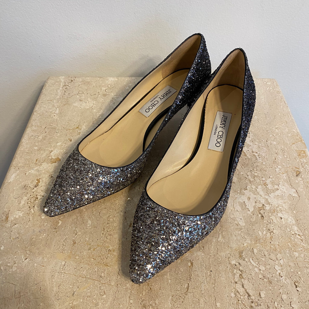 Authentic JIMMY CHOO Sparkle Pumps Size 10.5