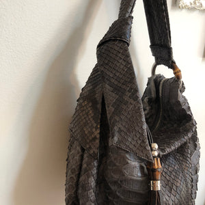 Authentic GUCCI Jungle Python Bamboo Hobo