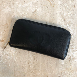 Authentic CHANEL Timeless Black Zippy Wallet