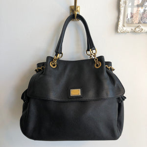 Authentic DOLCE & GABANNA Black Leather Large Tote