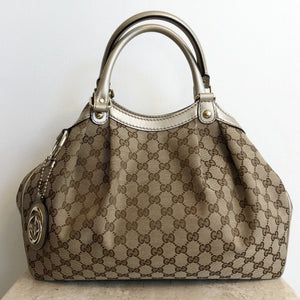 Authentic GUCCI Monogram Sukey Handbag