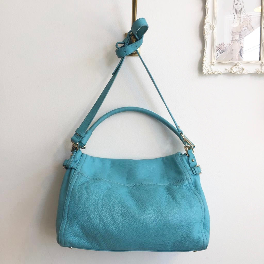 Authentic KATE SPADE Turquoise Leather Bag