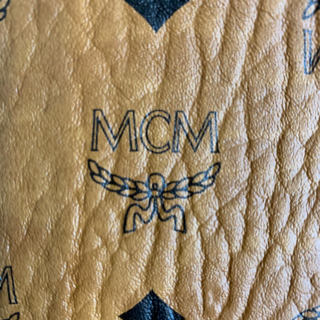 Authentic MCM Stark 32 Visetos Coated Canvas Backpack
